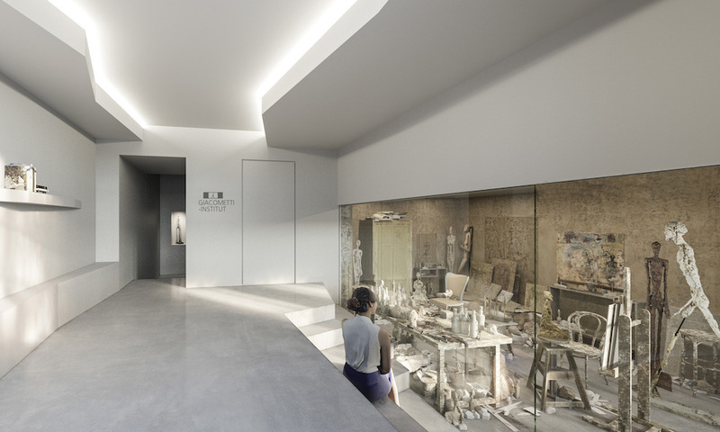 Reconstitution de l'atelier de Giacometti