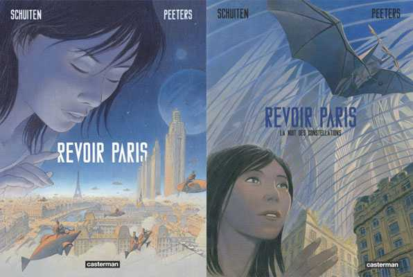 "Couvertures de ""Revoir Paris"" Schuiten / Peeters"