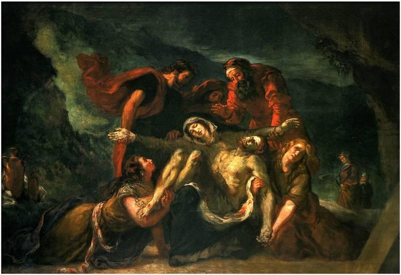 La pietà de Delacroix. Eglise Saint-Denys du Saint-Sacrement