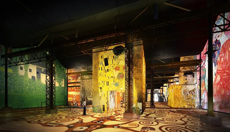 Ateliers Lumières simulation Klimt
