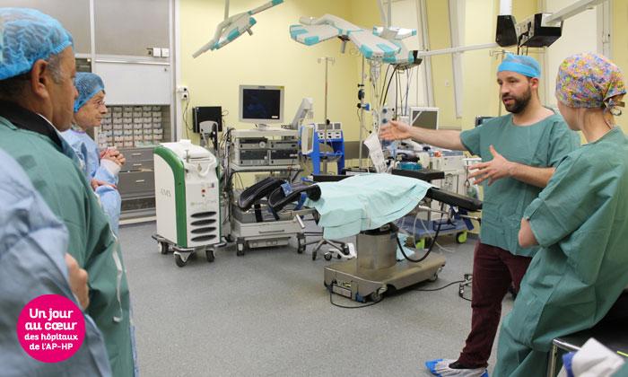 Visite d'un bloc à l'hôpital Bichat