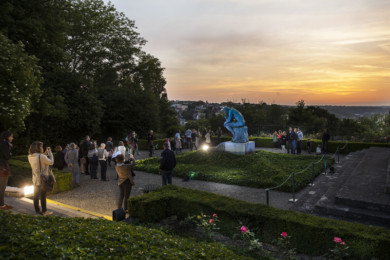 Le Penseur au musée Rodin de Meudon, pendant la Nuit des Musées