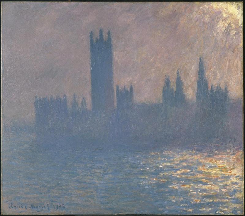 Claude Monet, Le Parlement de Londres, effet de soleil, 1903, huile sur toile, Brooklyn Museum, New York, legs de Grace Underwood Barton.