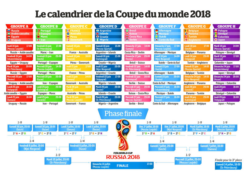 calendrier phase qualificatives fifa 2018
