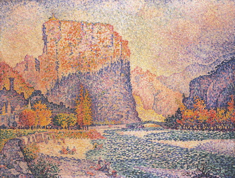Paul Signac Castellane 1902 Huile sur toile 88 x 114,5 cm
