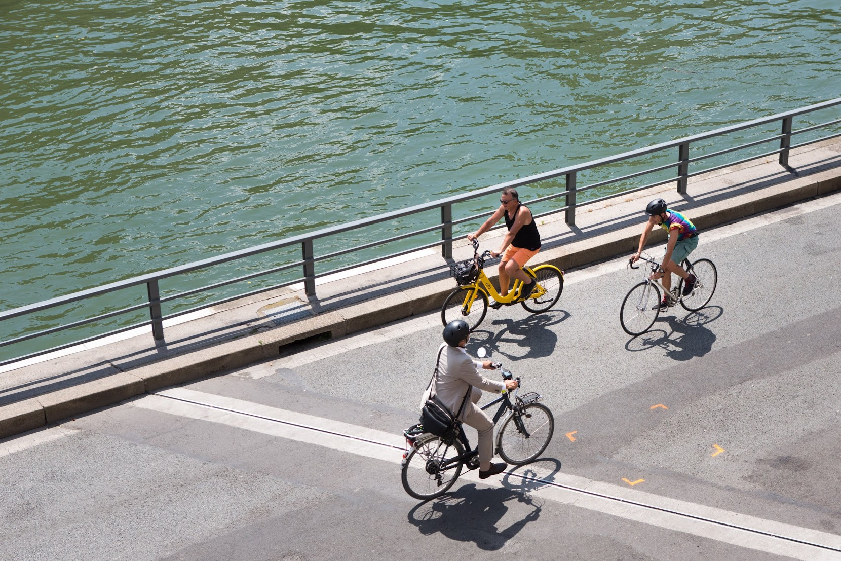 Vélo sur les rives de Seine