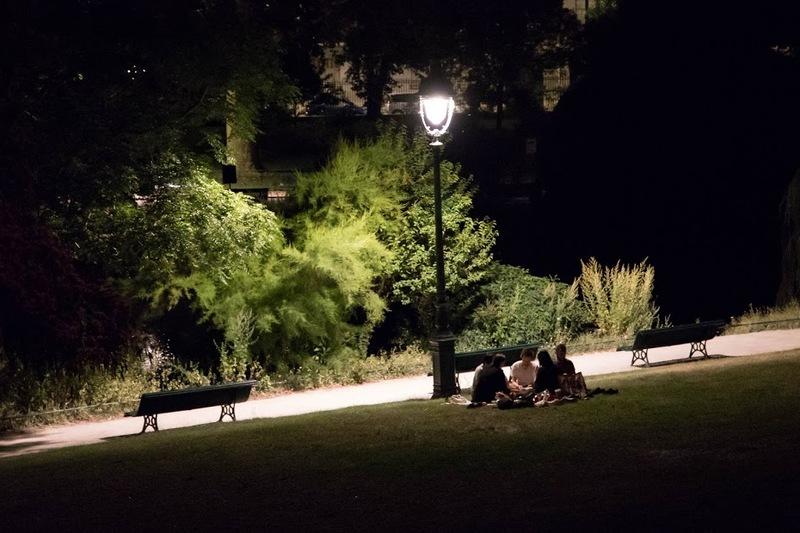 Parc Montsouris de nuit