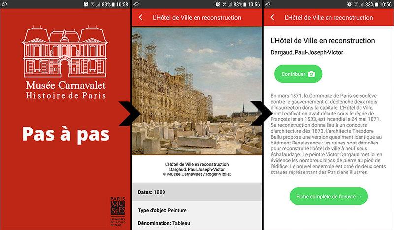 Application Musée Carnavalet Histoire de Paris : Pas à Pas