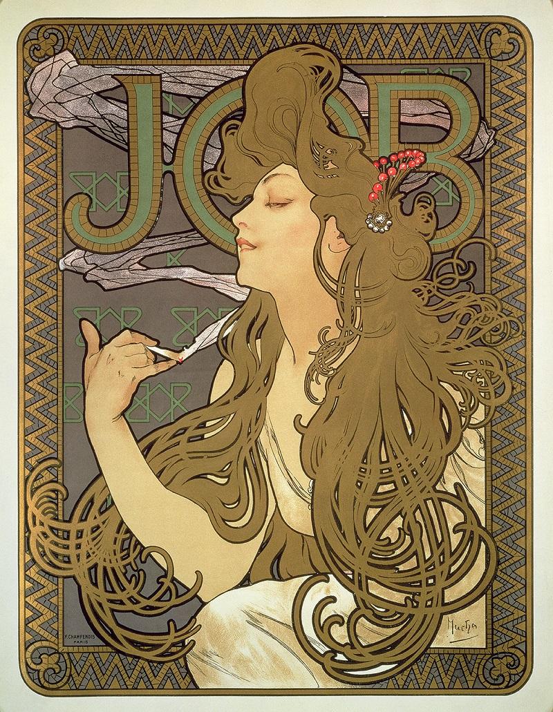 Affiche pour le papier à cigarette Job 1896