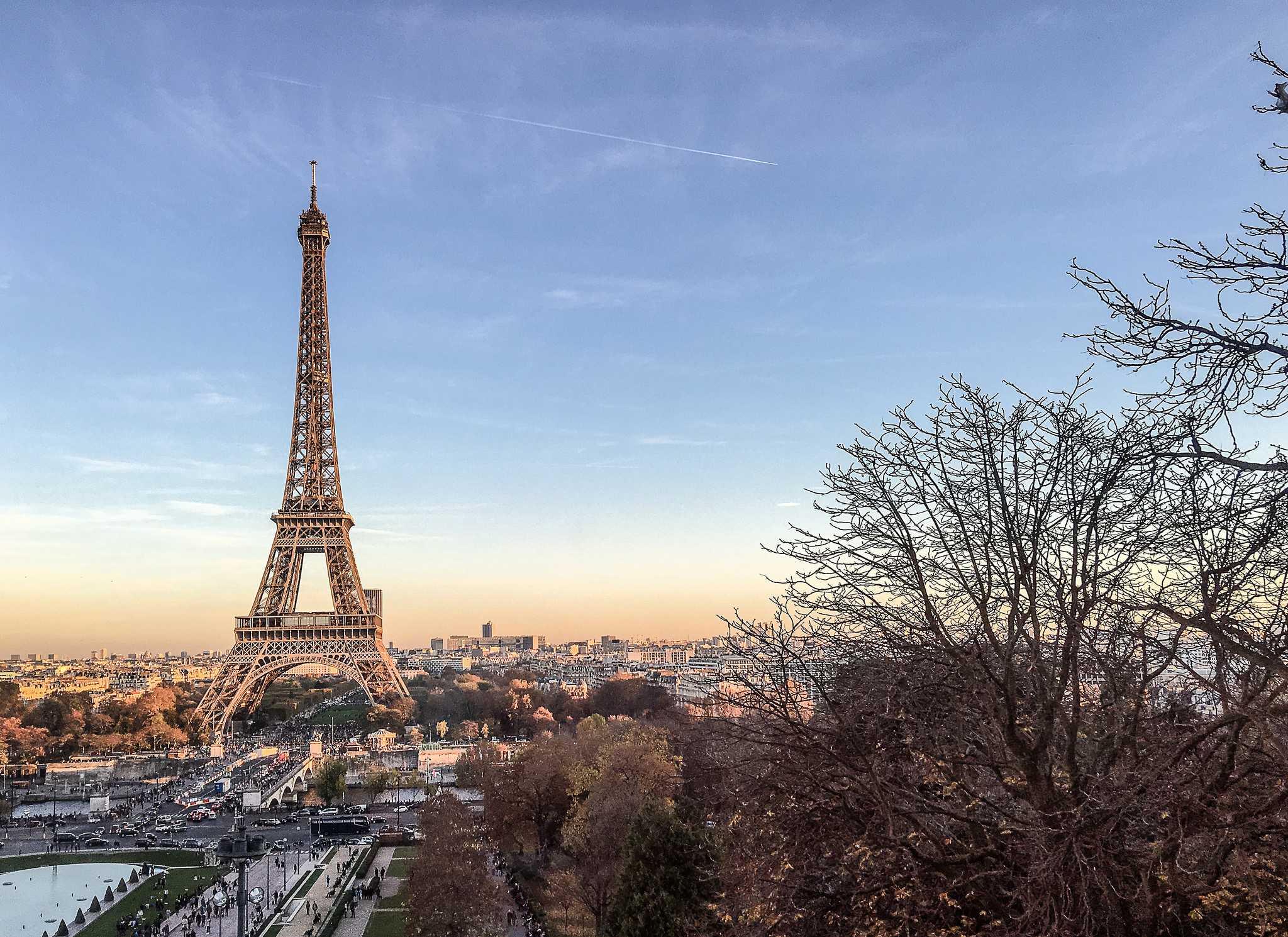 Tour Eiffel, Paris  Depuis le musée de l'Homme