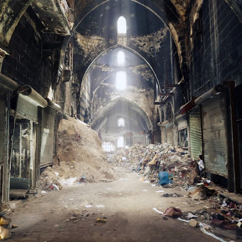 Image 3D du souk d'Alep, Syrie /