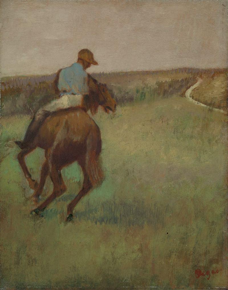 Edgar Degas (1734-1917) Jockey en bleu sur un cheval alezan, vers 1889