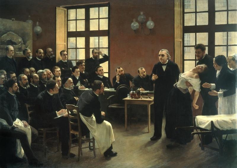 André Brouillet Une leçon clinique à la Salpêtrière, 1887 Huile sur toile, 300 x 425 cm