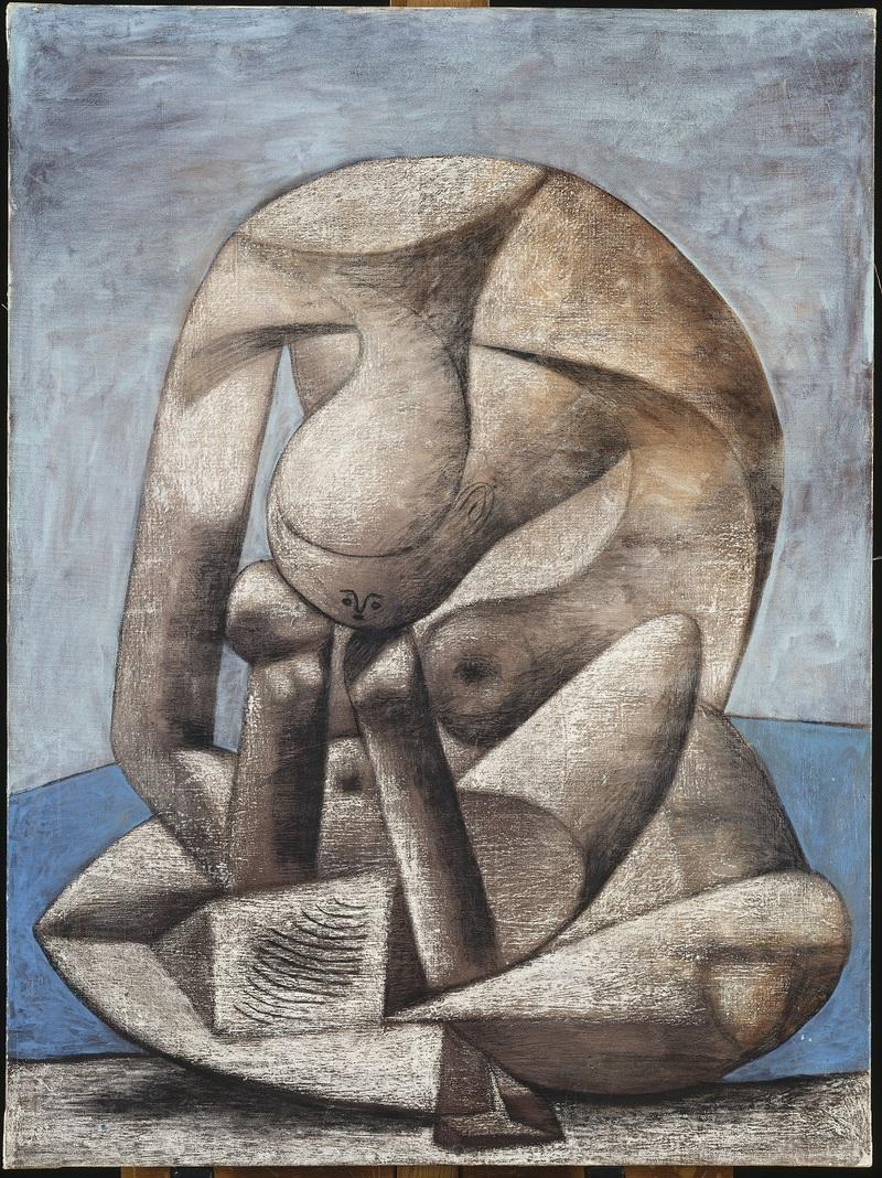 Pablo Picasso Grande baigneuse au livre Paris, 1937 Fusain, pastel, huile sur toile