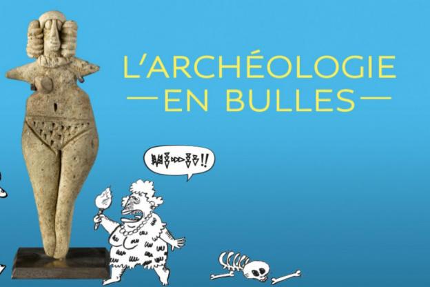 Affiche archéologie en bulles