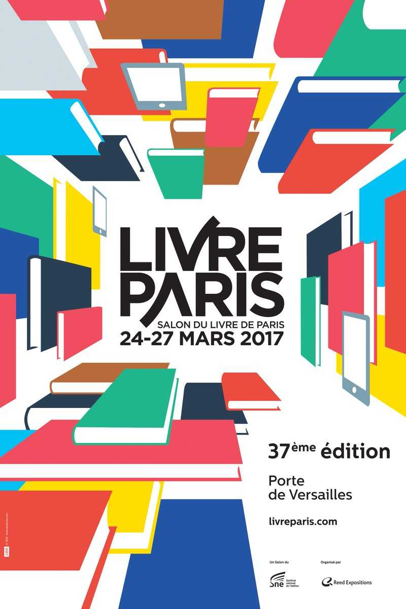 Affiche de salon du Livre de Paris