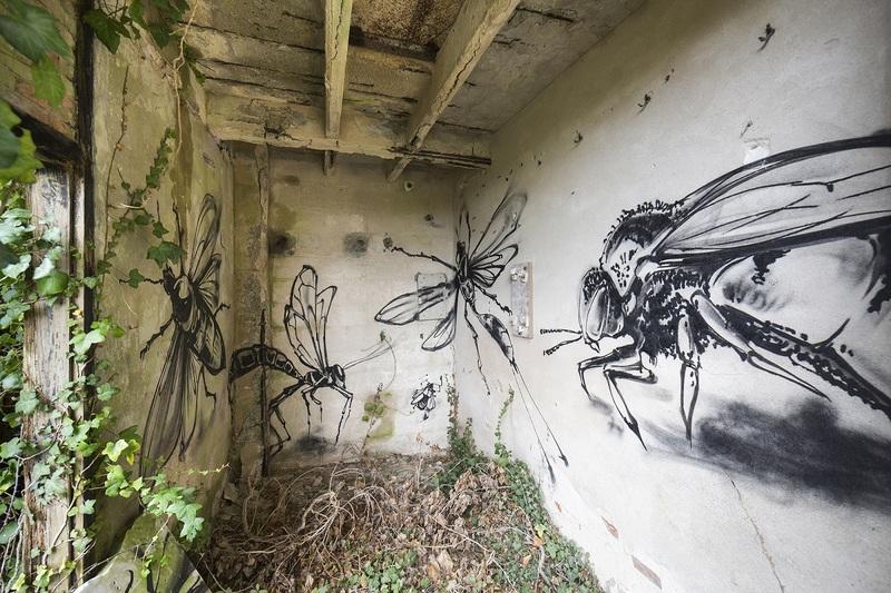 Graffiti dans les lieux abandonnés