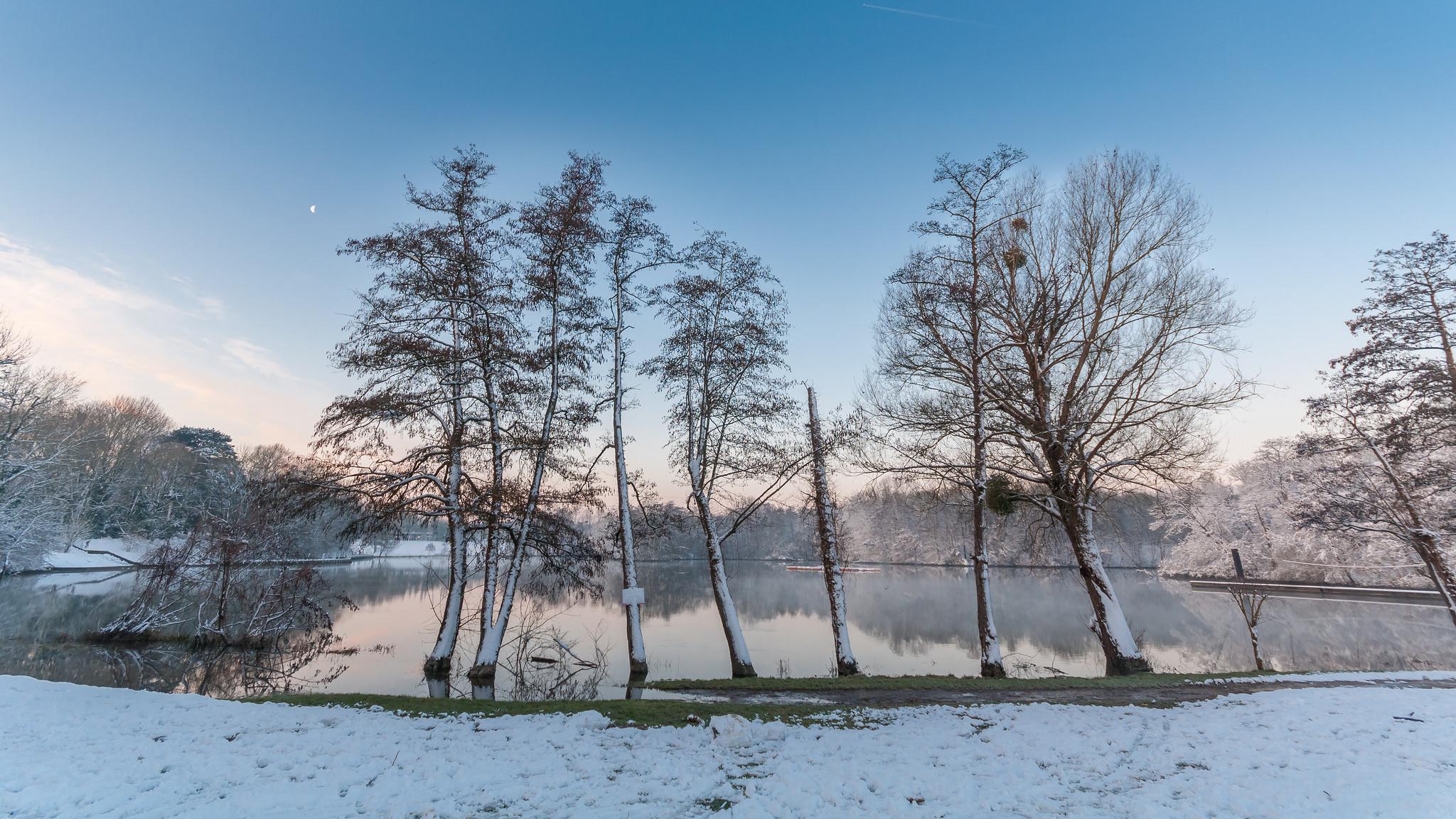 L'étang de Mousseux en hiver