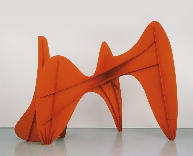 Alexander Calder La Grande vitesse (1:5 maquette intermédiaire) 1969 Tôle, boulons et peinture 259 x 343 x 236,2 cm Calder Foundation, New York