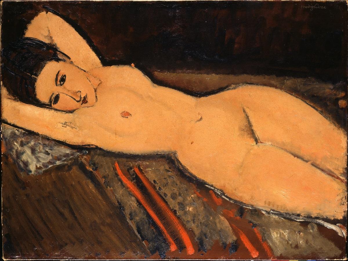 Amedeo Modigliani Nu couché 1916 huile sur toile 65,5 x 87 cm Collection Emil Bührle, Zurich