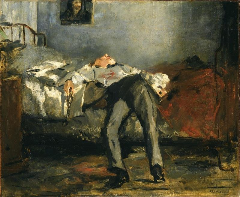 Edouard Manet Le Suicidé vers 1877 huile sur toile 38 x 46 cm Collection Emil Bührle, Zurich