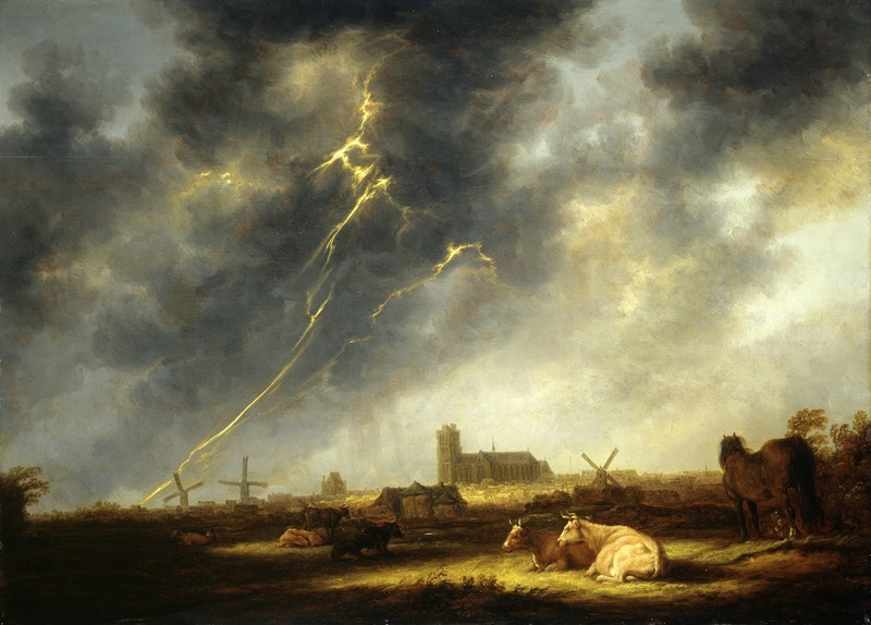 Aelbert Cuyp Orage sur Dordrecht vers 1645 huile sur toile 77,5 x 107 cm Collection Emil Bührle, Zurich