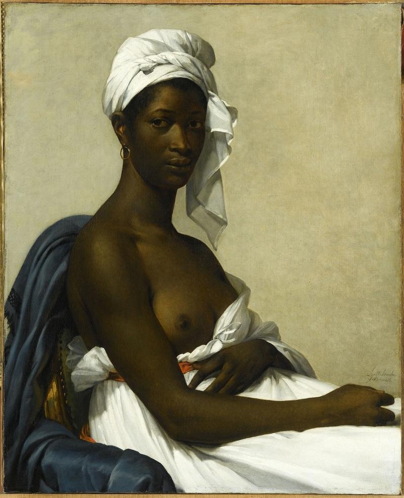 Marie Guillemine Benoist (1768-1826) Portrait de femme noire, 1800 Huile sur toile, 81 x 65 cm Paris, musée du Louvre