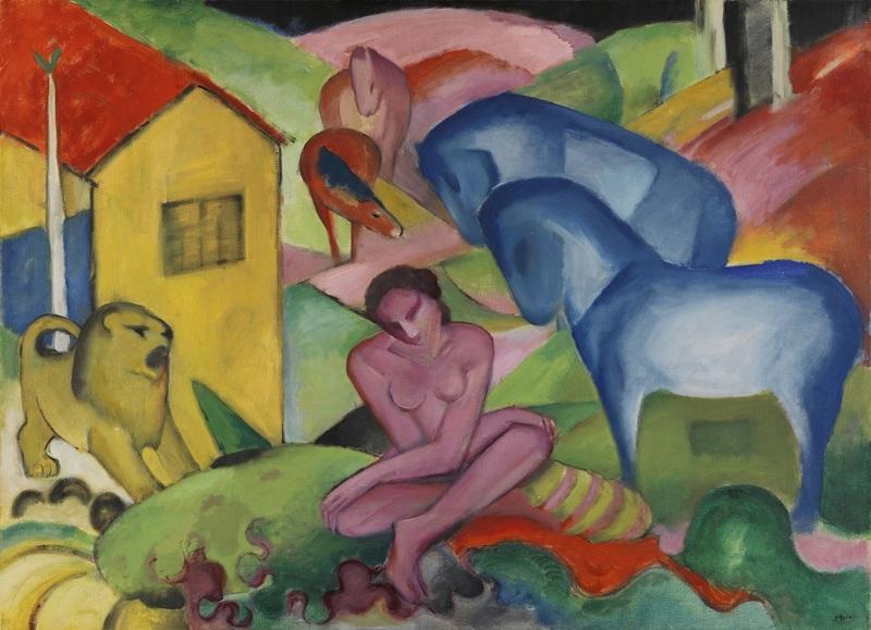 Franz Marc Le Rêve [Der Traum], 1912 Huile sur toile, 100,5 × 135,5 cm Madrid, Museo Nacional Thyssen-Bornemisza