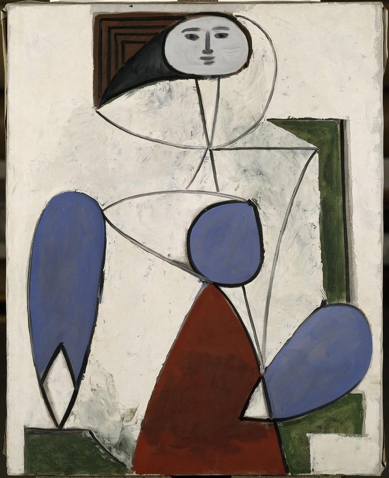 Pablo Picasso Femme dans un fauteuil Paris, 2 avril 1947 Huile sur toile 92 x 72,5 cm Musée national Picasso-Paris Dation, 1990