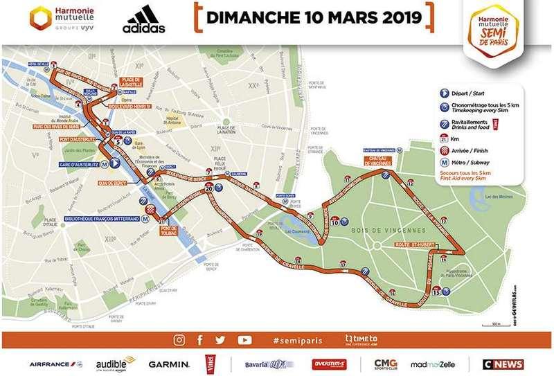 Carte semi-marathon 2019