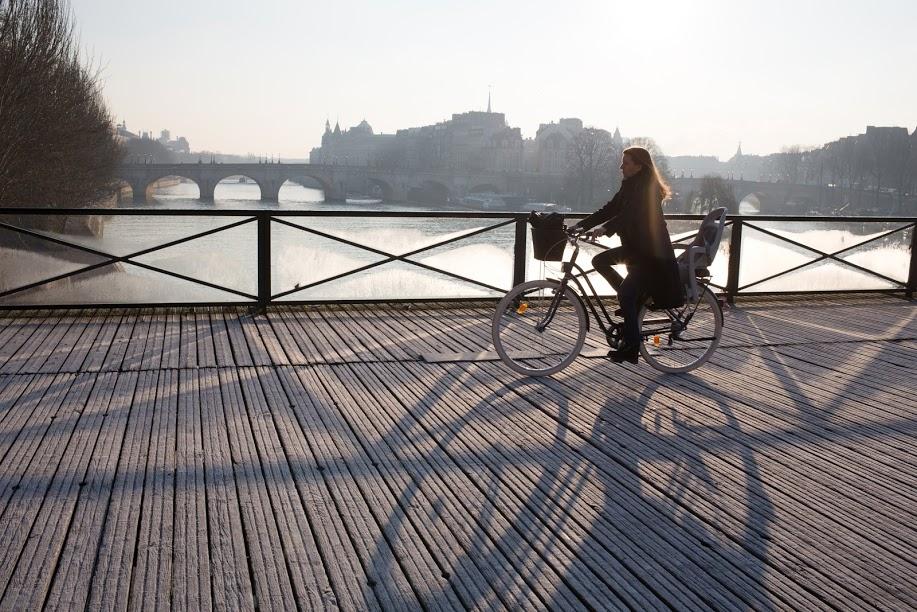 Paris à vélo, même en hiver