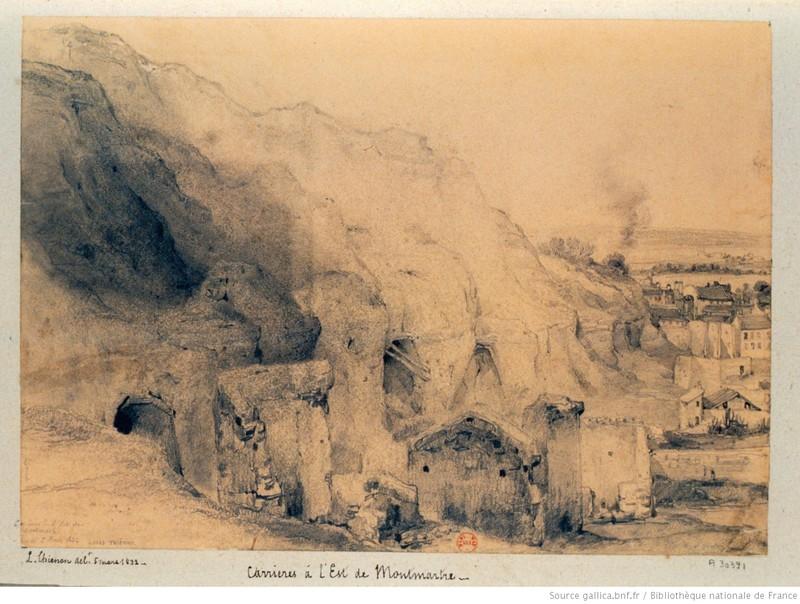 Carrières à l'Est de Montmartre / Thiénon, Louis-Désiré (1812-188.).