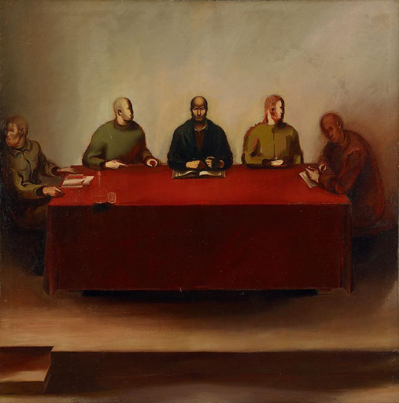 Salomon Nikritine Le tribunal du peuple 1934 Huile sur toile 142 x 142 cm Moscou, Galerie nationale Tretyakov