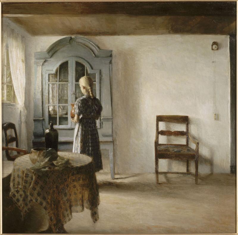 Peter Ilsted, Intérieur, 1896, huile sur toile, 69 x 69 cm Paris, musée d'Orsay.