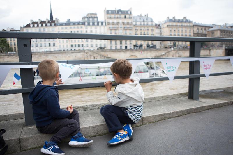 Les berges de Seine, fête des enfants