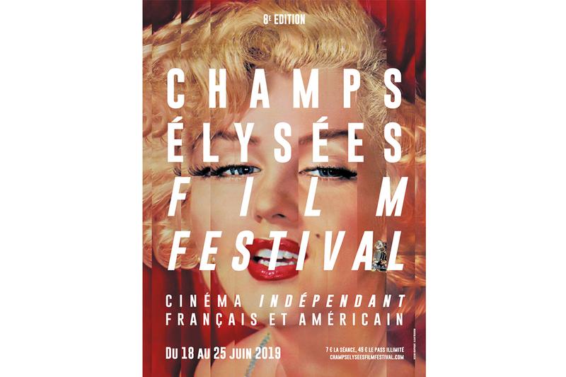 Affiche officielle de la 8ème édition de Champs-Elysées Film Festival