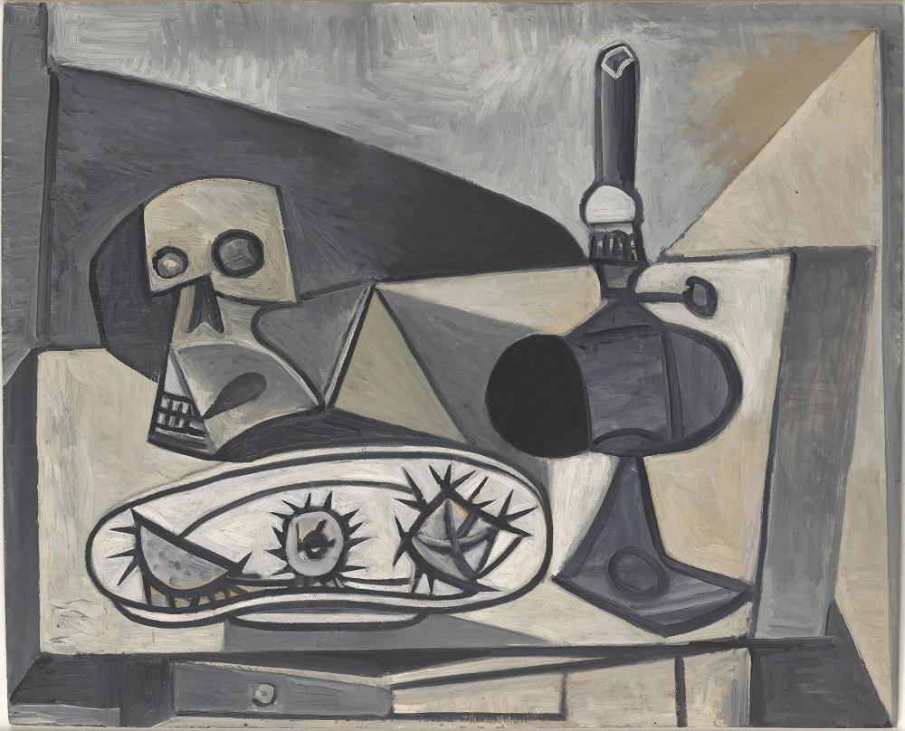 Pablo Picasso (1881-1973), Crâne, oursins et lampe sur une table, Antibes- Paris, 27 novembre 1946, Paris, Musée national Picasso- Paris, dation Pablo Picasso, 1979