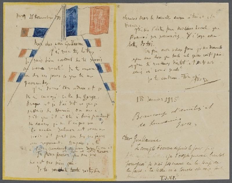 Lettre à Guillaume Apollinaire, Pablo Picasso