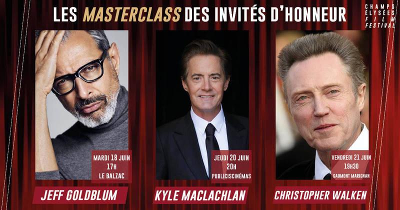 Jeff Goldblum, Kyle Maclachlan, Christopher Walken, Invités d'Honneur de Champs-Elysées Film Festival 2019