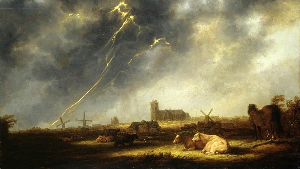 Aelbert Cuyp Orage sur Dordrecht vers 1645 huile sur toile 77,5 x 107 cm