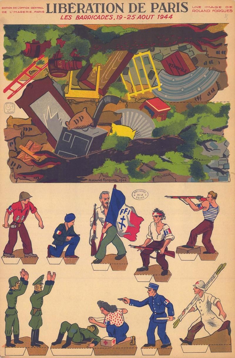 Jeu pour enfants consacré à la Libération de Paris - Les barricades