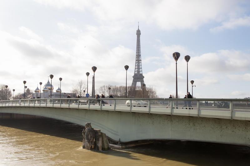 Pont de l'Alma pendant la crue