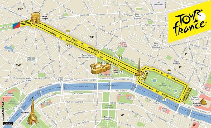 Tour de France, randonnée pour tous sur les Champs-Elysées
