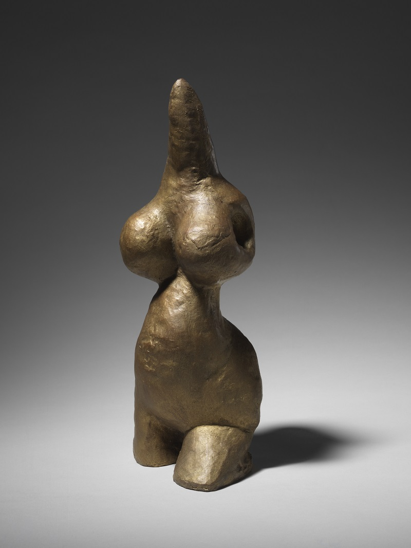 Louise Bourgeois Harmless Woman, 1969 Bronze, gold patina, 28,3 x 11,5 x 11,5 cm Collection The Easton Foundation