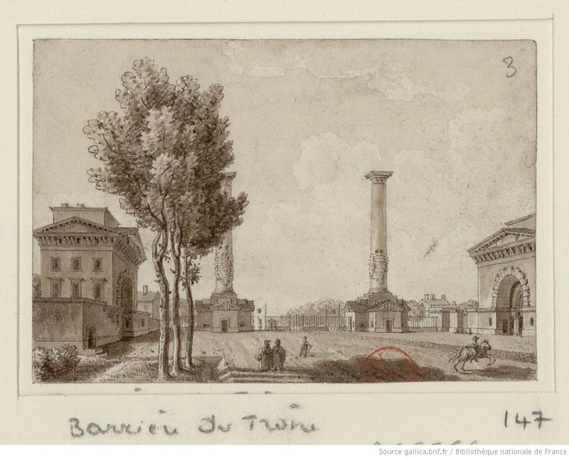 Barrière du Trône : [dessin] / [Christophe Civeton] Civeton, Christophe (1796-1831). Dessinateur