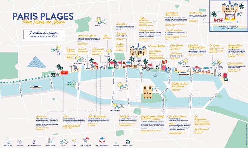 Plan Paris Plages Rives de Seine 2019