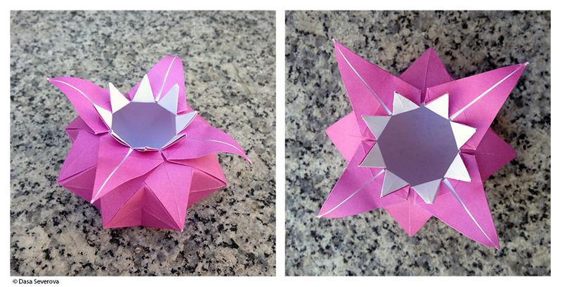 photo origami vase octogonal
