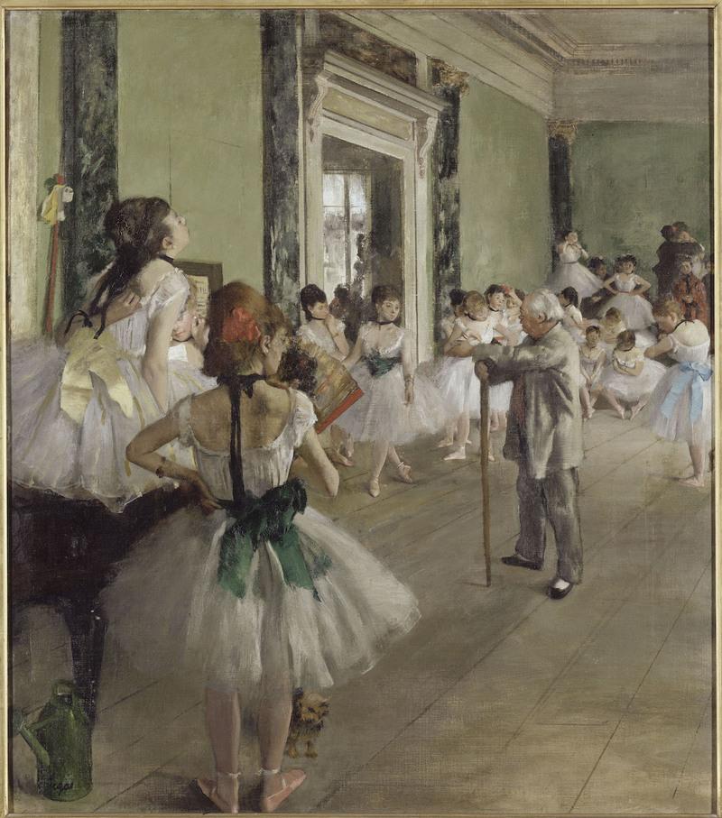 La Classe de danse,1873 Huile sur toile, 85,5 x 75 cm Paris, musée d'Orsay, RF 1976