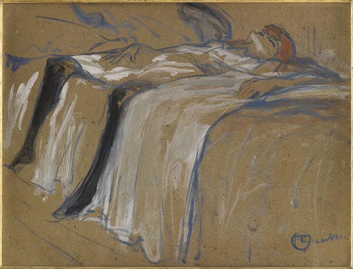 Henri de Toulouse-Lautrec Seule 1896 huile sur carton 31 x 39,6 cm Paris, musée d'Orsay