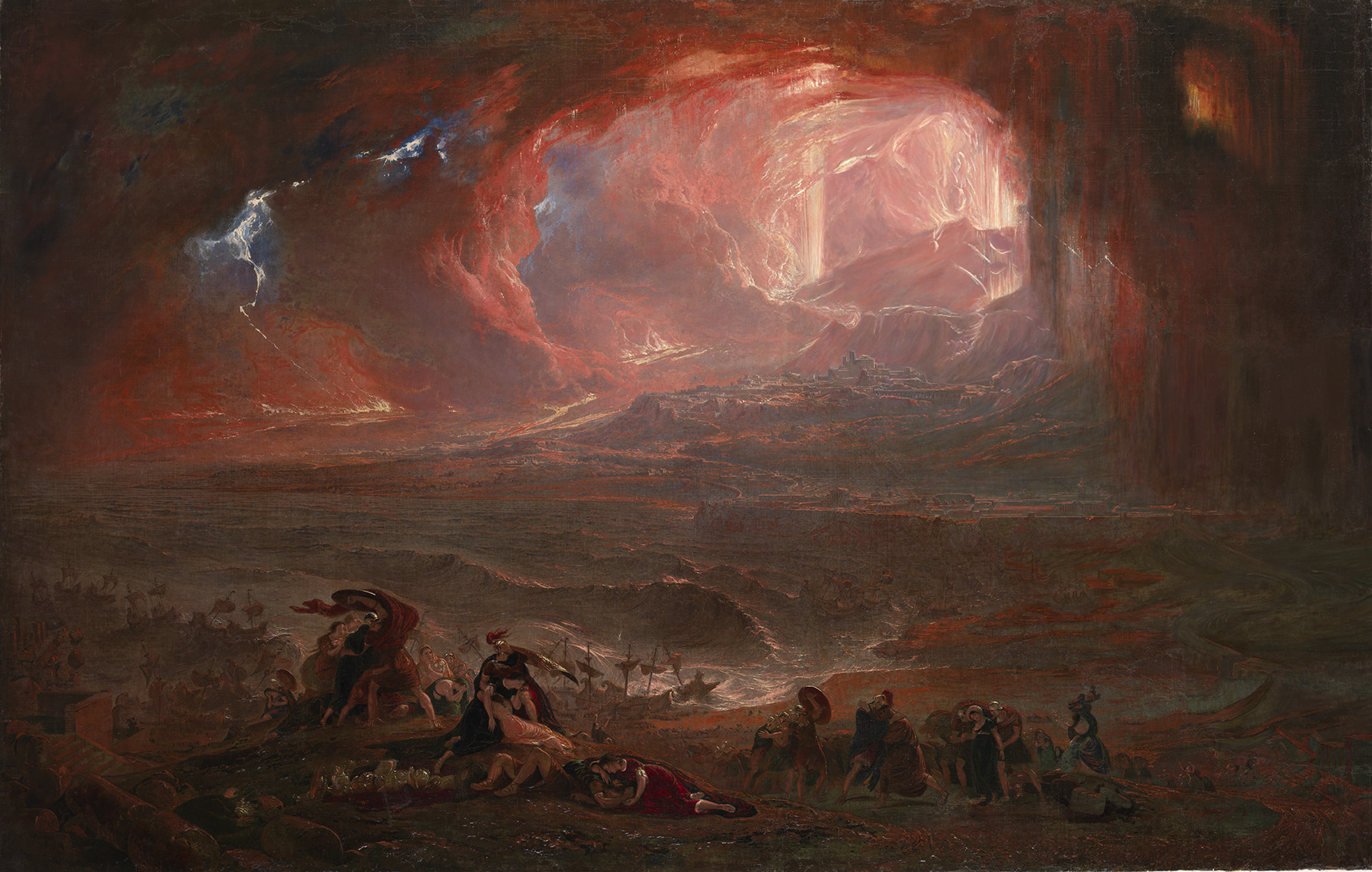 La Destruction de Pompéi et d'Herculanum 1822 huile sur toile 161,6 × 253 cm Acheté en 1869 Royaume-Uni, Londres, Tate